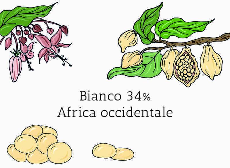 Cioccolato Bianco in Gocce 34% Africa