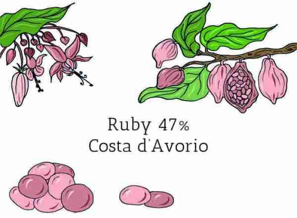 Cioccolato in Gocce Ruby 47%